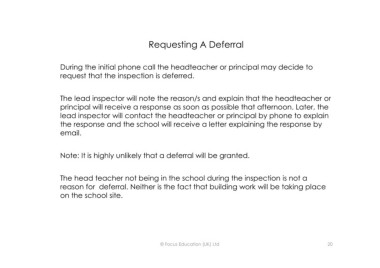 Page 20 - Preparing for an Ofsted Inspection